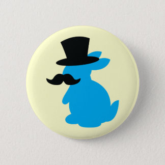 Top Hat Bunny Rabbit Button