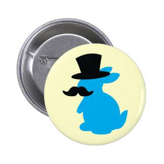 Top Hat Bunny Rabbit Pinback Button