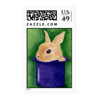 Top Hat Bunny Stamp