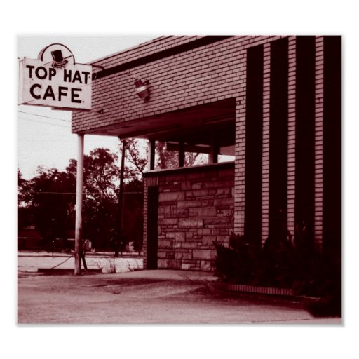 Top Hat Cafe Poster
