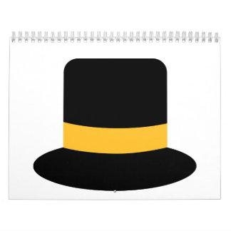 Top hat wall calendar