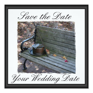 Top Hat & Cane Save the Dates Card