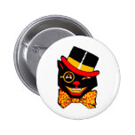 Top Hat Cat 2 Inch Round Button