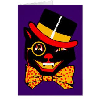 Top Hat Cat Card