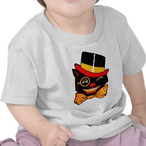 Top Hat Cat T-shirts