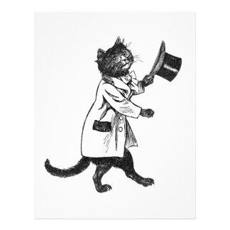 Top Hat Cat Vintage Art Flyer