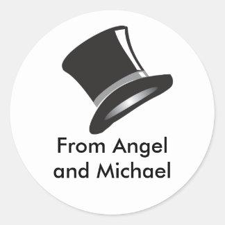 Top Hat Classic Round Sticker