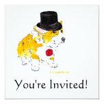 Top Hat Corgi Invitations