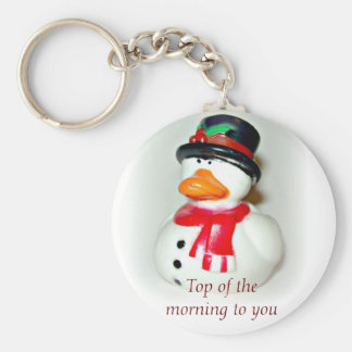 Top Hat Duck Key Chain