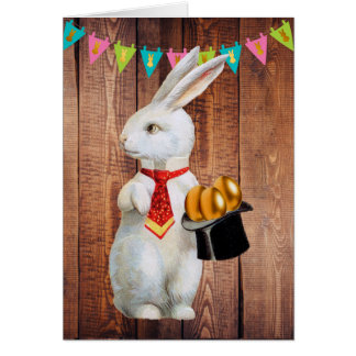 Top Hat Easter Bunny Card