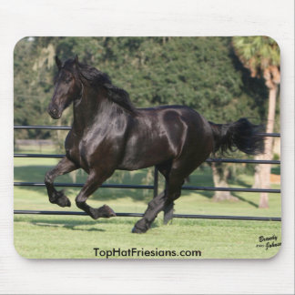 Top Hat Friesians Mouse Pad