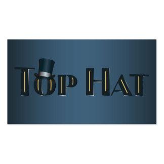 Top Hat Indigo Decorative Text Business Card