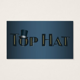 Top Hat Indigo Decorative Text Business Card