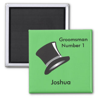 Top Hat 2 Inch Square Magnet