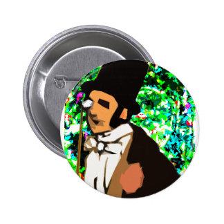 top hat Man Button