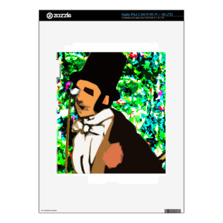 top hat Man Decal For iPad 3