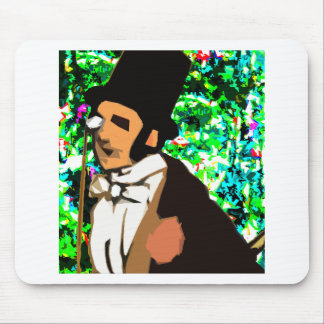 top hat Man Mouse Pad