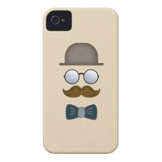 Top Hat, Moustache, Glasses and Bow Tie iPhone 4 Cover