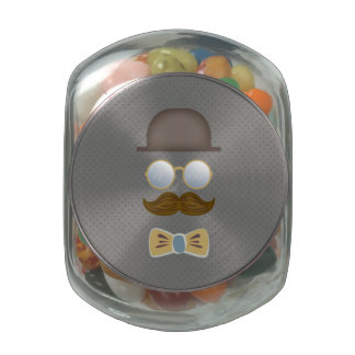 Top Hat, Moustache, Glasses and Bow Tie Jelly Belly Candy Jars