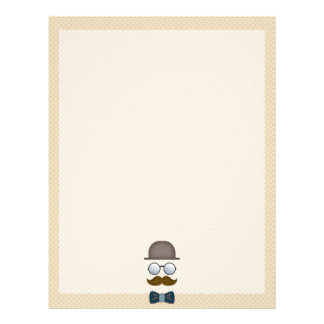 Top Hat, Moustache, Glasses and Bow Tie Letterhead