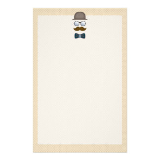 Top Hat, Moustache, Glasses and Bow Tie Personalized Stationery