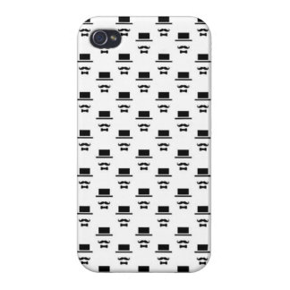 Top Hat-Mustache-Bow Tie Guy Cover For iPhone 4