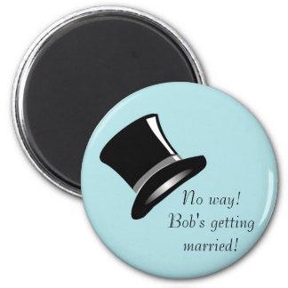 Top Hat on Blue Magnet