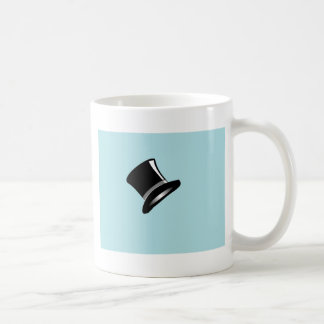 Top Hat on Blue Classic White Coffee Mug