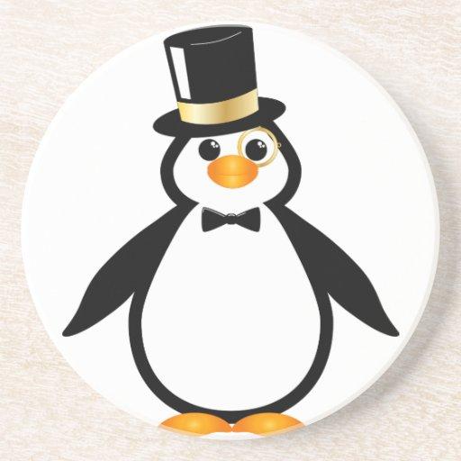Top Hat Penguin Coasters