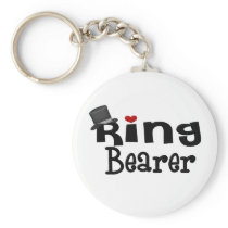 Top Hat Ring Bearer Keychain