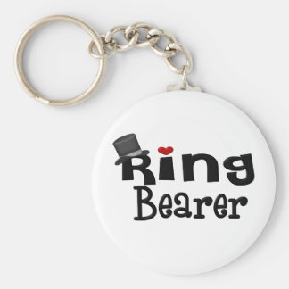 Top Hat Ring Bearer Keychain
