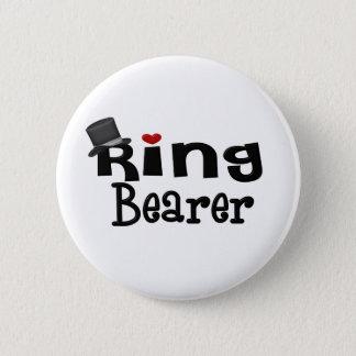 Top Hat Ring Bearer Pinback Button
