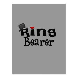 Top Hat Ring Bearer Postcard