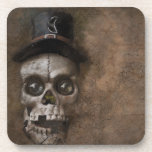 Top Hat Skull Beverage Coaster