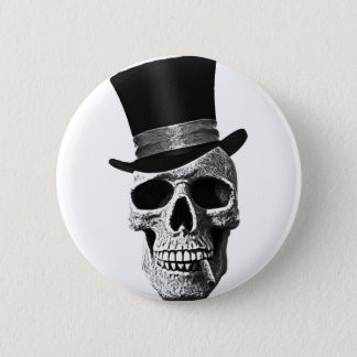 Top hat skull button