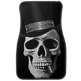 Top hat skull car floor mat