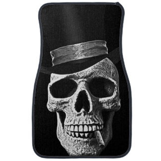 Top hat skull car floor mat