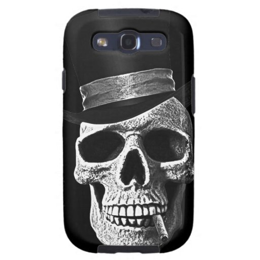 Top hat skull samsung galaxy s3 case
