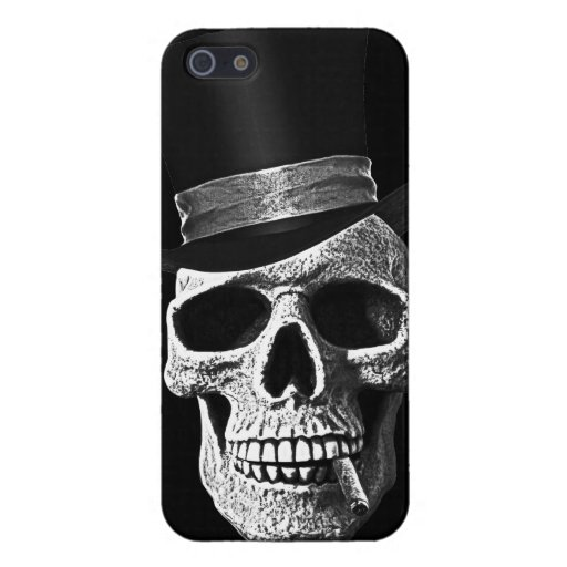 Top hat skull cover for iPhone 5