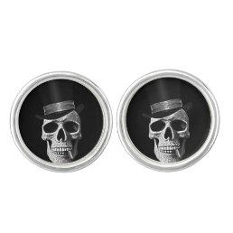 Top hat skull cufflinks