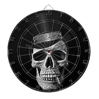 Top hat skull dart boards