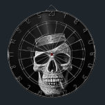 "Top hat skull dartboard<br><div class=""desc"">Hello,  this design represents a death&#39;s-head with its top hat and a cigar.</div>"