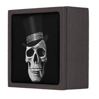 Top hat skull gift box