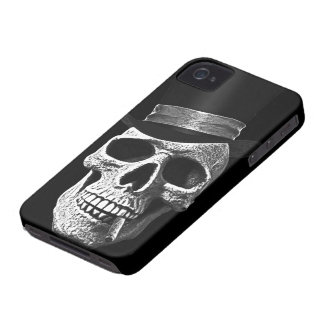 Top hat skull iPhone 4 cover