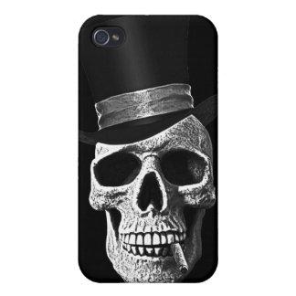 Top hat skull iPhone 4 cases