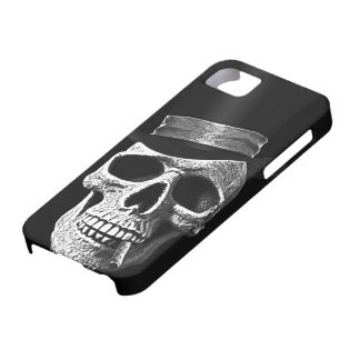Top hat skull iPhone SE/5/5s case