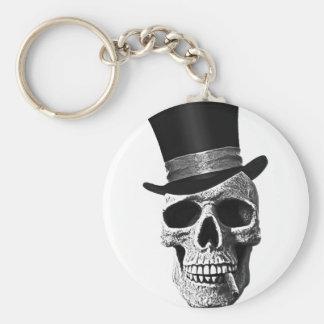Top hat skull keychain
