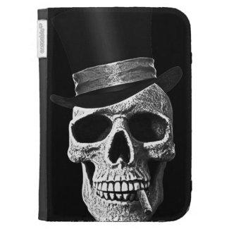 Top hat skull kindle keyboard case