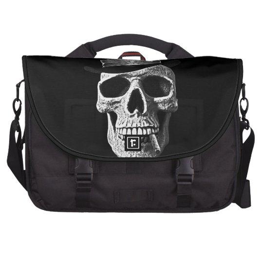 Top hat skull laptop commuter bag