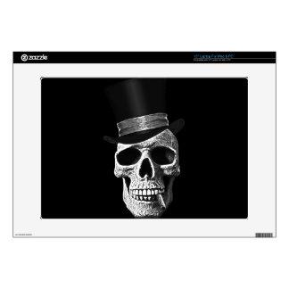 Top hat skull laptop skin